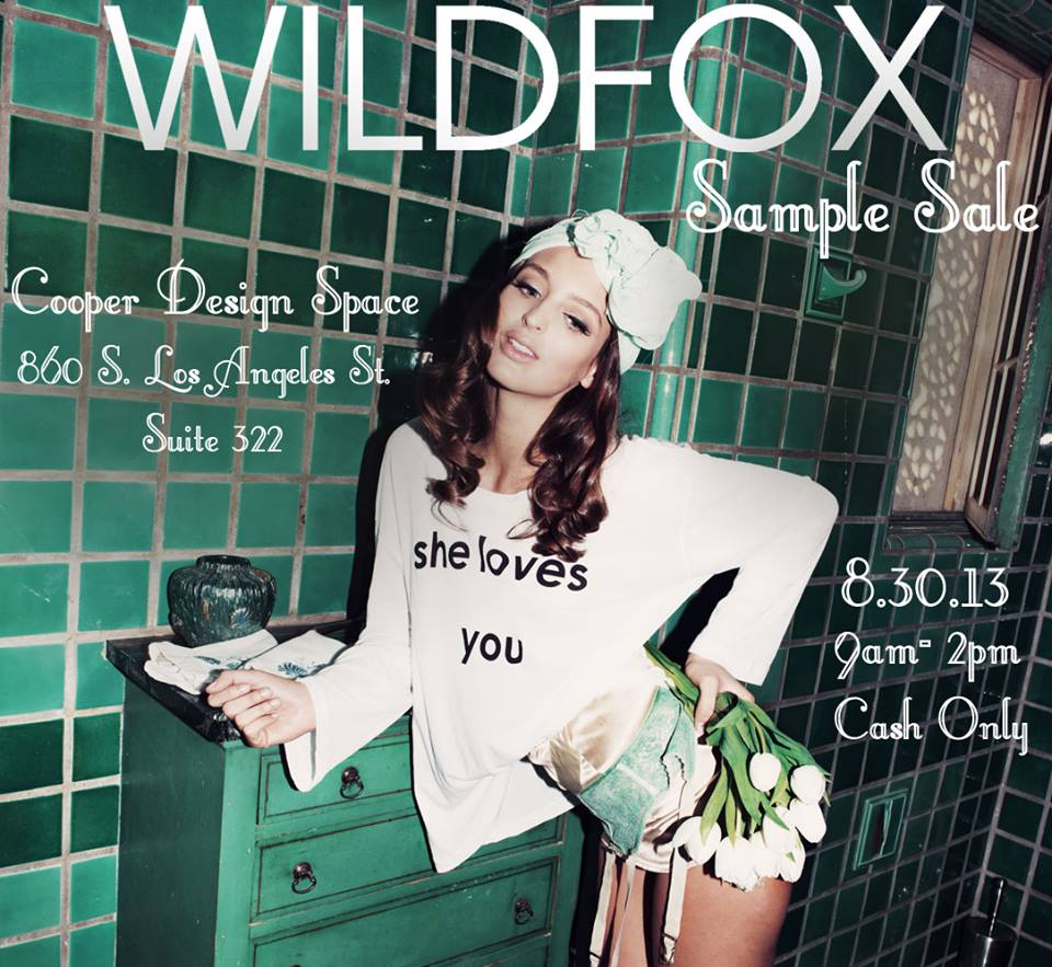Wildfox Sample Sale in LA! August 30th at 9am-2pm